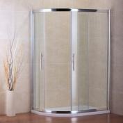 AICA 1200 x 800 mm Quadrant Shower Sliding Doors, Glass, Chrome Profile/Clear