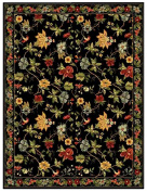 Safavieh Chelsea Collection HK311A Hand-Hooked Black Premium Wool Area Rug