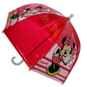 Minnie Mouse - Children Umbrella red transparent