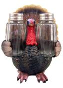 Resin Thanksgiving Turkey Figurine with Glass Salt and Pepper Shaker Set, 16cm