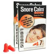 Snore Calm Elite Foam Ear Plugs (7 Pairs) (2 Packs