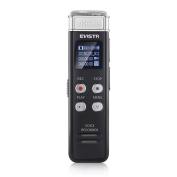 Evistr 8GB Digital Voice Recorder Mini Portable Audio Recorder with MP3 Music Player 46 Hours PCM Recording