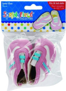 Doll Clothes Sport Shoes - Pink, Blue & White Kids Children