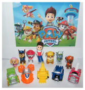PAW Patrol Deluxe Mini Figure Toy Play Set of 12 Ryder and 6 Dogs Best Selling