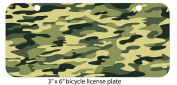 Decal Sticker Abstract Camouflage Pattern Different Colours Printed Design Mini 7.6cm x 15cm Aluminium Licence Plate
