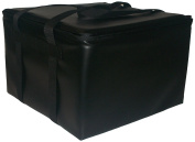 TCB Insulated Bags HG-2-Black Insulated Pizza Delivery Bag, Holds 5 Each 41cm Pizzas, Zipper Lid, Black