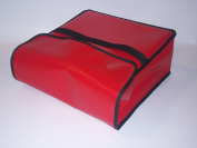 TCB Insulated Bags PK-330-Red Insulated Pizza Delivery Bag, Holds 3 Each 70cm Pizzas, 80cm x 80cm x 18cm , Red