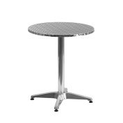 MFO 60cm Round Aluminium Indoor-Outdoor Table with Base
