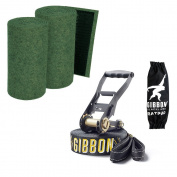 "SLACKWEAR Slackline Set with ""SafetyTree"" Tree Protection Green + Jib Line X13 from Gibbon Slacklines"