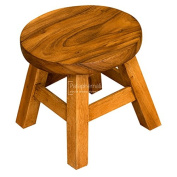 Solid suar wood round short stool