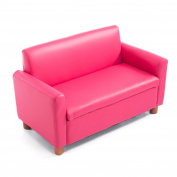 HOMCOM PU Leather Kids Sofa Storage Armchair Relax Toddler Couch Children Game Seat Boys Girls Padded Chair Pink