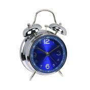 Hemara 10cm Classic Alarm Clock Bedside Quartz Analogue Twin Bell Alarm Clock With Loud Alarm and Nightlight