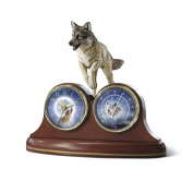 Guardians Of Time Desk Clock with Mystical Wolf Art by The Bradford Exchange