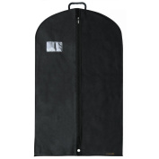 Hangerworld 100cm Black Breathable Suit Carrier Garment Cover Bag with Plastic Carry Handle, Pack of 3