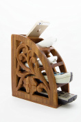 Stylla London Handcrafted Carved Wooden Remote Stand