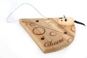 Cute Cheese Board With Wire Cutter Mouse. Kitchen Gift.