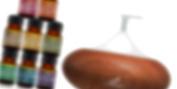 Art Naturals Essential Oil Diffuser 100ml & Top 8 Essential Oil Set - Peppermint, Tee Tree, Rosemary, Orange, Lemongrass, Lavender, Eucalyptus, & Frankincense - Auto Shut-off and 7 Colour LED Lights