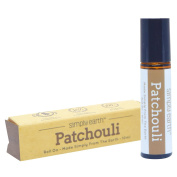 Patchouli Essential Oil Roll-On Bottle by Simply Earth - 10ml, 100% Pure Therapeutic Grade