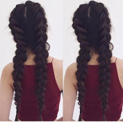 Rongduoyi 8A Brazilian Straight Human Hair #4 Dark Brown Glueless Braid Lace Front Wigs with Baby Hair For Black Women (130% Density 20cm - 70cm in stock)