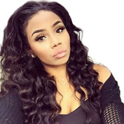 Ten Chopstics Full Body Wave Brazilian Lace Front Wigs Unprocessed 100%Virgin Human Hair Wigs 9A Bleached Knots for Black Women Natural Baby Hair in Stock