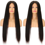 Ten Chopstics Long Silky Straight Human Hair Lace Front Wigs 9A Unprocessed Brazilian Front Lace Wigs Bleached Knots 100%Virgin Hair for Black Women Natural Baby Hair in Stock