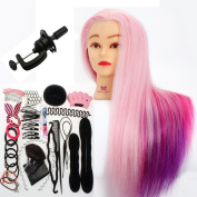 Neverland Beauty 60cm Colourful Synthentic Hairdressing Cosmetology Mannequin Training Head + + Hair Styling Braid Set
