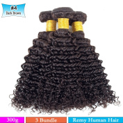 Brazilian Virgin Hair Curly Weave 100% Unprocessed Human Hair Extensions Colour 2 (100+/-5g)/ Pc