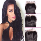 Veravicky Hair 130% Density Brazilian Straight Lace Closure 3 Part 100% Virgin Human Hair Closure with Bleached Knots