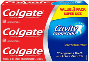 Colgate Cavity Protection Toothpaste, 240ml, 3 Count