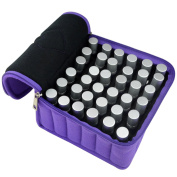 Jmkcoz 36 Bottles Essential Oils Travel Bag Shockproof Portable Essential Oil Carrying Case Suitable for 5ml,10ml,15ml Bottles Purple