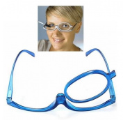 Blue Magnifying Glasses Makeup Reading Glass Folding Eyeglasses Cosmetic Degrees range
