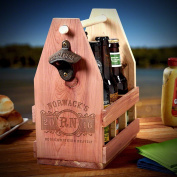 Marquee Engraved Wooden Beer Carrier