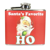 Santa's Favourite Ho Ugly Christmas 150ml Stainless Steel Flask