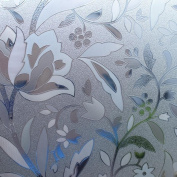 Coavas Static Cling Window Film, Decorate with Flowers,Apply to Any Smooth Glass Surface