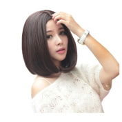 Besgo 36cm Shoulder Length Straight Bobo Wig For Women Cosplay and Daily Costume