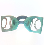 Softball/Baseball Hair Bow - without tails, Many Colours Avail, Made in the USA
