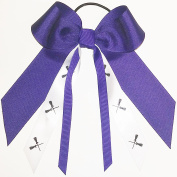 Lacrosse Hair Bow, Many Colours Avail, Made in the USA, Black Pony Band