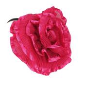 Lolita Gothic Couture Renaissance Ruffle Fuchsia Large Flower Headband