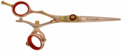 Kissaki Left Handed Hair Cutting Shears Gokatana L 14cm Rose Gold R Titanium Double Swivel Hair Scissors
