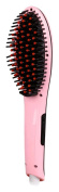 Magic-Straight Detangling Hair Straightening Brush with LCD Display and Variable Temperature Control - Pink
