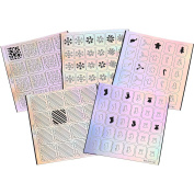 BMC 5pc Holographic Nail Art Vinyl Sticker Guides - Christmas Collection