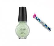 Konad Stamping Nail Art DIY 11ml Special Nail Polish Pastel Green with One Ganda Nail Buffer