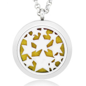 GIONO Aromatherapy Essential Oils Diffuser -316L Stainless Steel Locket Necklace
