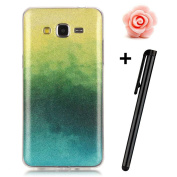 Samsung Galaxy Grand Prime Case,TOYYM Gradient Colour Bling Glitter Clear Shell Bumper Back Case for Samsung G530,Ultra Slim Flexible Soft Gel TPU Protective Case Cover for Galaxy G530-#11