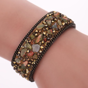 Diamondo Women Wrap Bracelets Slake Stone Leather Bracelets