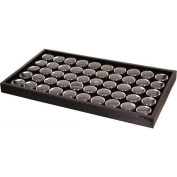 50 Black Gem & Coin Jars Stackable Display Travel Tray