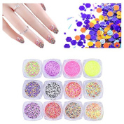 ACE STRASS Neon Flat Hexagon Paillettes for Nails Sequin Craft