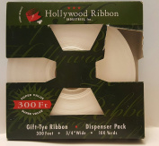 Gift Holiday White Ribbon Satin Finsih Tye Ribbon 90m Dispenser Pack 3/4 Wide 100 Yards Gift Wrapping Bow Tie