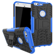 Google Pixel XL Case, ARSUE [Premium Rugged] Heavy Duty Armour [Shock Resistant] Dual Layer with Kickstand Case for Google Pixel XL 2016-Blue