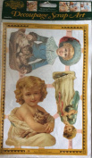 Decoupage Scrap Art - Victorian Children with Cats + Flowers and Butterfiles